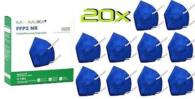 20x MedMaXX FFP2 NR Atemschutzmaske auch für Kinder geeignet Größe S blau II