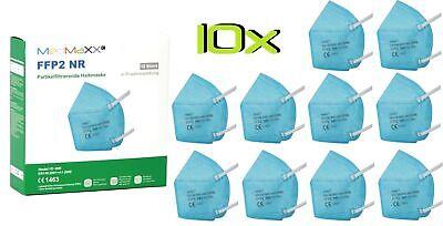 10x MedMaXX FFP2 NR Atemschutzmaske auch für Kinder geeignet Größe S hellblau II