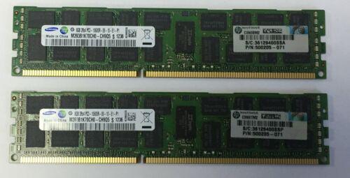 1X8GB 1333MHZ PC3-10600 CL9 DR ECC REG DDR3 DIMM HP 500205-071 8GB