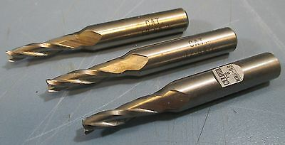 Lot Of 3 Weldon Taper End Mill Cutters T2-6a-2 2 H86-hs 3fl Usa