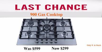 $299 - Gas Cooktop  90cm - Last few in stock.