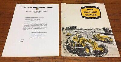 1961 Letourneau Westinghouse Scraper And Equipment Catalog