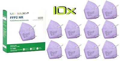10x MedMaXX FFP2 NR Atemschutzmaske auch für Kinder geeignet Größe S lila II