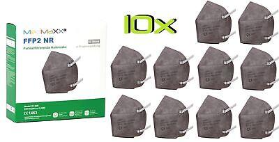 10x MedMaXX FFP2 NR Atemschutzmaske auch für Kinder geeignet Größe S grau II