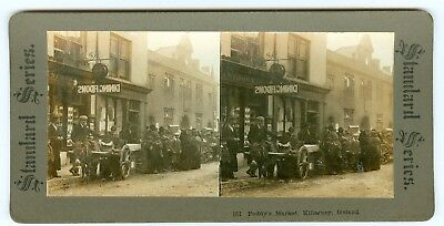 B8977~ Stereoview With Louis Anthony Postcard Studio? Killarney Ireland