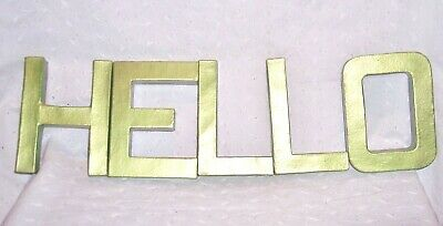 TABLE WALL DECOR LETTERS HELLO CARDBOARD LITE WEIGHT: 4 PC SET: 6
