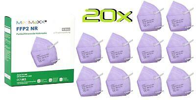 20x MedMaXX FFP2 NR Atemschutzmaske auch für Kinder geeignet Größe S lila II