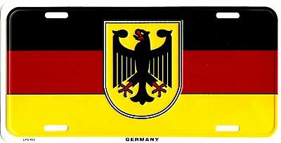 GERMANY GERMAN COUNTRY FLAG EMBOSSED METAL LICENSE PLATE AUTO CAR TAG #403