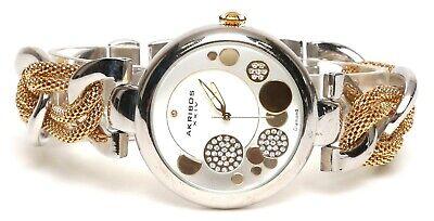 Akribos XXIV Womens Silver Tone Gold Watch 0498