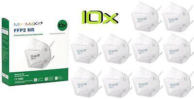 10x FFP2 NR Atemschutzmaske Mundschutz auch für Kinder geeignet Größe S weiß