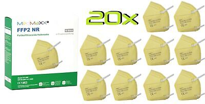 20x MedMaXX FFP2 NR Atemschutzmaske auch für Kinder geeignet Größe S gelb II