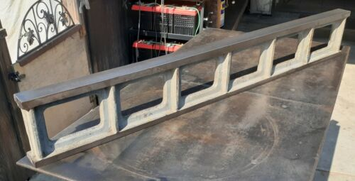 """48"""" DOUBLE SIDED STRAIGHT EDGE CAMELBACK CAST IRON LAPPING SCRAPING MACHINIST"""