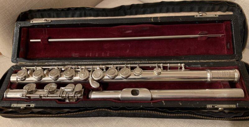 Haynes, Handmade Model Flute, Closed Hole offset G, overhauled, #7 mandrel Head