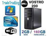 DELL VOSTRO 200 COMPUTER TOWER DESKTOP PC INTEL DUALCORE 2GB DDR2 160GB HDD-5