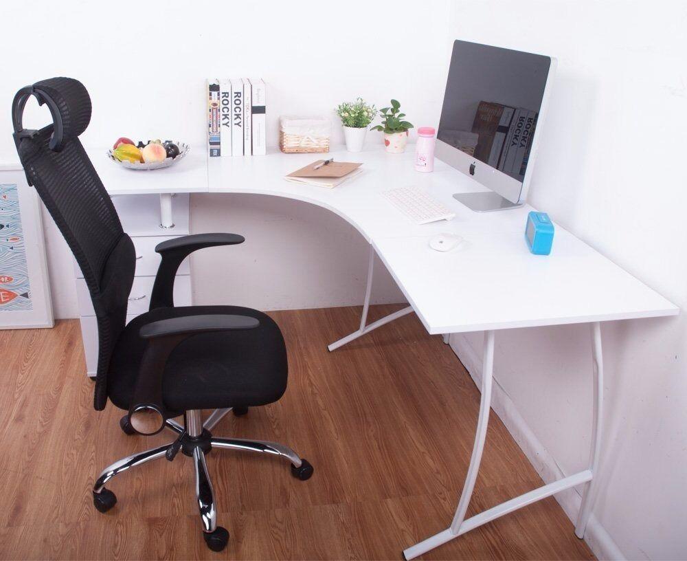 L Shape Large Corner Computer Desk Pc Table Home Office