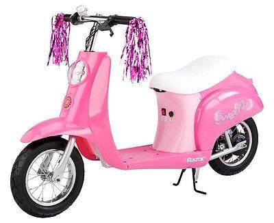 Razor Pocket Mod Euro Mini Electric Scooter SWEET PEA Miniature Girl Pink NEW!