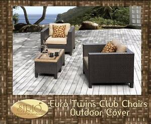 2 Chaise club extérieur avec 2 table à café en céramique NEUF(CC005)