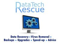 DataTech Rescue: Computer data recovery, virus removal, system speed-up, help and advice