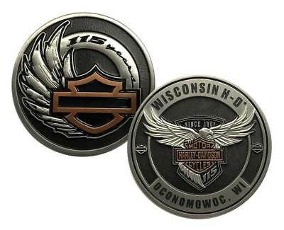 Harley-Davidson 115th Anniversary Dealer Collectors Challenge Coin, 8008376