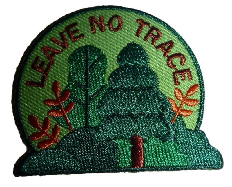 Girl Boy Cub LEAVE NO TRACE Fun Patches Crests Badges SCOUTS GUIDE hiking Forest