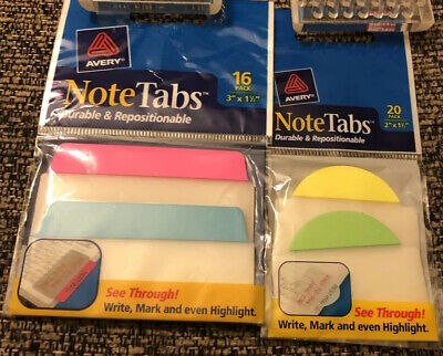 Set Of 2 Avery Repositionable See Through Note Tabs 1620 Pack 2 X 1.5