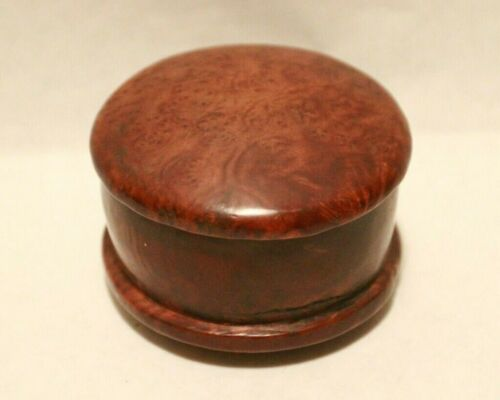 RARE EARLY AMERICAN CARVED BURL WALNUT SNUFF BOX OR TOBACCO BOX ??? - AMAZING!!!