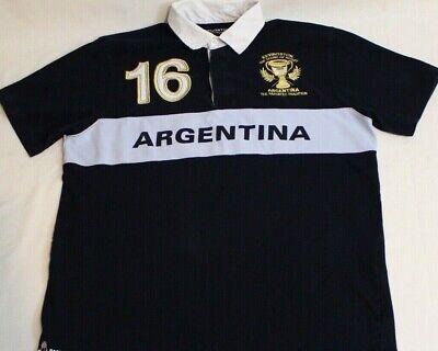 LA MARTINA POLO OMP623 BUENOS AIRES Argentina Polo Club BLU Cotone Jersey Uomo