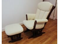 Dutailier Nursing Rocking Chair and Foot Stool