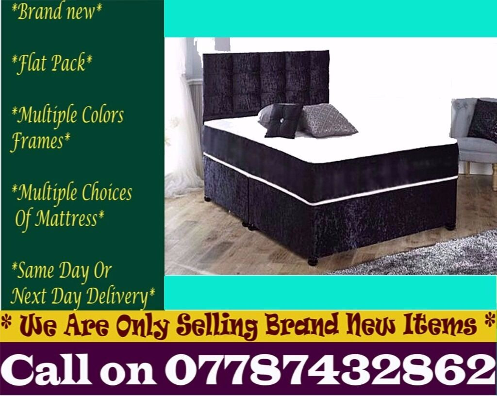 Amazing Offer CRUSH VELVET SINGLE DOUBLE KING SIZE MEMORY FOAM DESIGNERBedding Ocalain Tooting Broadway, LondonGumtree - Features Brand New Bed Type Divan Bed Size Standard Double Material crush velvet Dimensions Width 4ft6 140cmLength 6ft3 190cm Divan Base Features Platform Top Base We adhere to strict quality standards to ensure you are fully satisfied also With your...