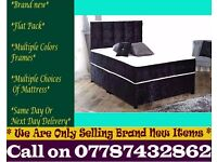 Amazing Offer CRUSH VELVET SINGLE DOUBLE KING SIZE MEMORY FOAM DESIGNER / Bedding Granby