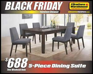 BLACK FRIDAY Dining Table Set Deal-Only $698