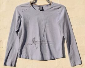 """Nike Large Ladies Baby Blue Long Sleeve Fitted Sporty Running Top C36"""""""