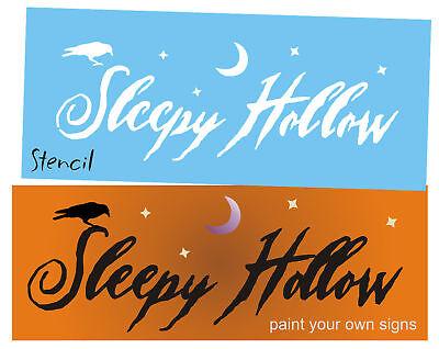 Primitive Halloween Stencil Sleepy Hollow Black Bird Crow Spooky Haunted signs - Boo Halloween Stencil