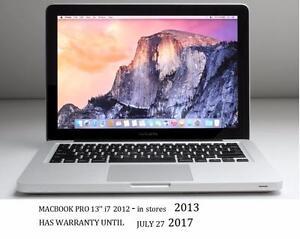 APPLE MACBOOK PRO 13'' i7 2.9 GHZ 8GB 750GB WARRANTY 7.27.2017+OFFICE PRO 2016,FINAL CUT PRO,LOGIC PRO,MASTER SUITE