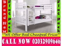 single Wooden bunk split in 2 single Base available , Bedding Cleveland
