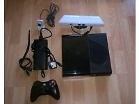 XBOX 360 E 250GB CONSOLE + 25 GAMES + KINECT