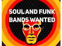 Soul and Funk musician and singers wanted for a showcase event.