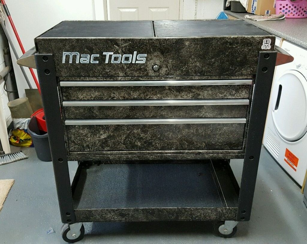 Mac Tools Trolley Custom Paint Tool Box Rare Snap On