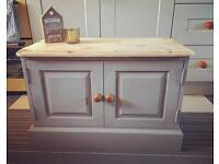 Shabby chic painted pine cupboard
