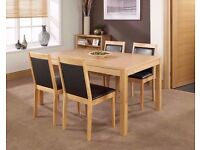 Mountrose Oak Walnut Dining Table NEW BOX TABLE ONLY