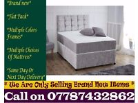 Amazing Offer CRUSH VELVET SINGLE DOUBLE KING SIZE MEMORY FOAM DESIGNER / Bedding Phoenix