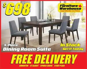 DINING TABLE AND CHAIRS DEAL-IN STOCK-GET IT TODAY