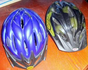BIKING HELMETS 1 ADULT, 1 CHILD Bicycles Great Condition  OAKVILLE 905 510-8720 $30 ea obo