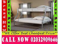 TRIO metal bunk split in 2 single + Double Base available , Bedding Meacham