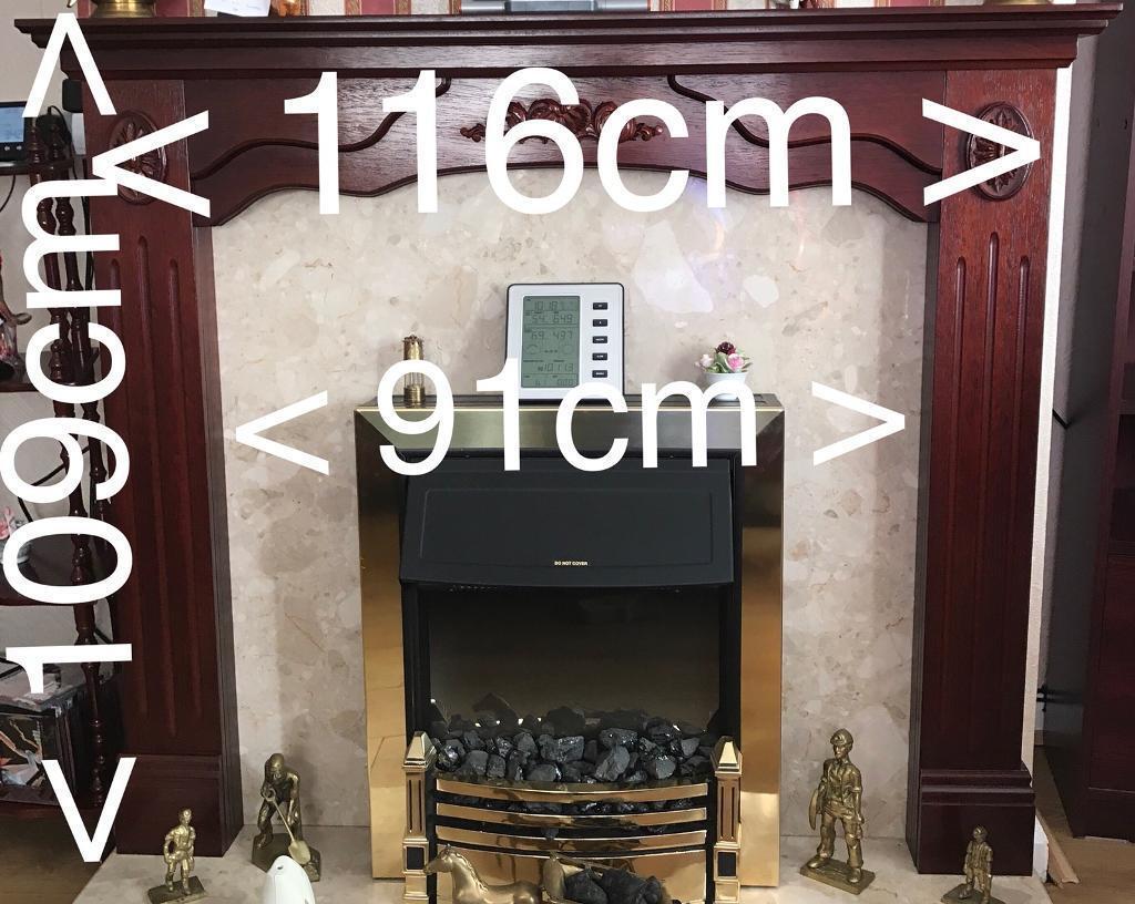 Mahogany effect fire surround