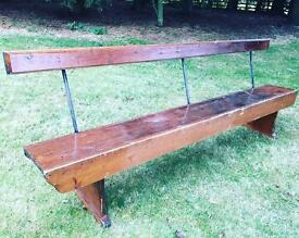 8ft stained pine bench
