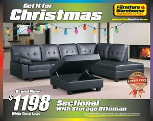 BRAND NEW Sectional and Extra Large Storage Ottoman