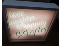 Light up happily ever after sign