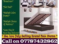 STRONG PU Leather Storage Frame Double King, Single Bedding Black Brown Henrieville