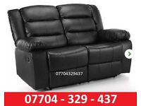 NEW Two seater black recliner Sofa
